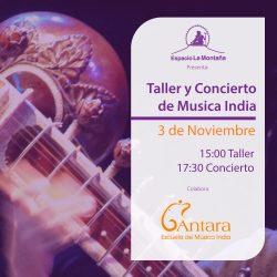 Taller de introducción a la ciencia del Gandharva Veda y Concierto de música clásica de India